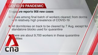 Singapore reports 908 new COVID-19 cases, highest number since May