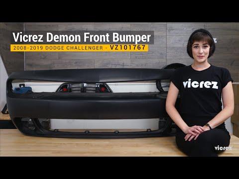 Vicrez Demon Front Bumper VZ101767 | 2008-2019 Dodge Challenger | Overview