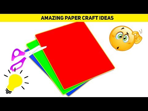 19 DIY Paper Craft Ideas | Easy Colored Paper Craft Ideas