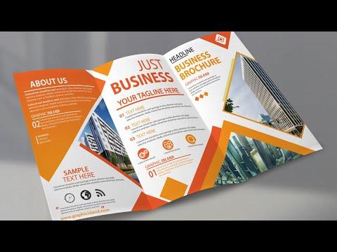 Brochure Design in Illustrator cc || Tri Fold Brochure Design Tutorial thumbnail
