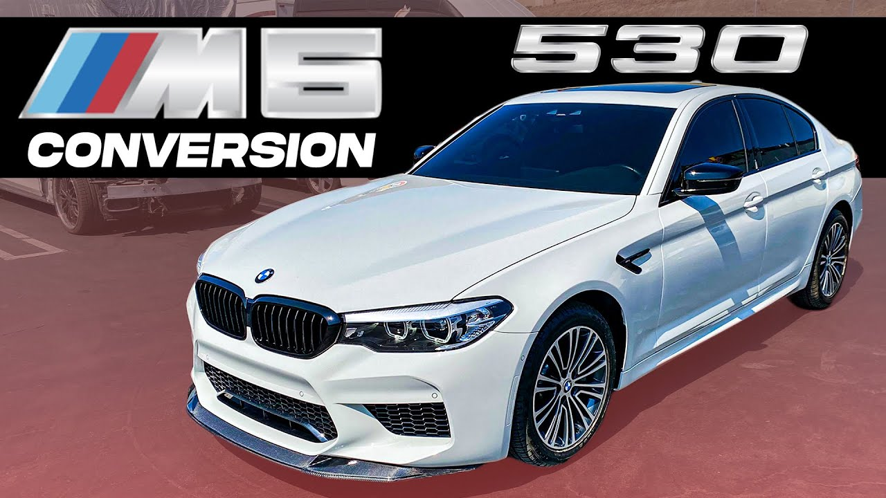 REBUILDING CRASHED 2020 BMW 530I, PAINT AND INSTALLING M5 BODYKIT  (part#3)