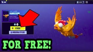 HOW TO GET FLAPPY FLYER GLIDER FOR FREE! (Fortnite Old Gliders)