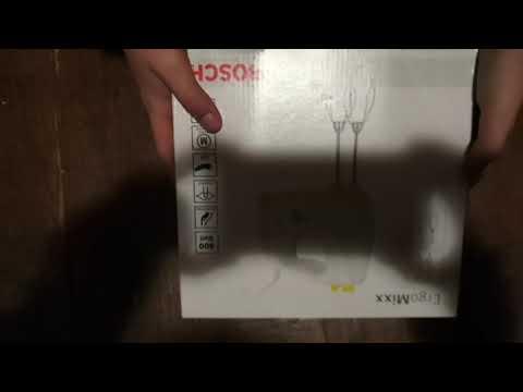 Обзор миксера Ergo MIXX от Bosch / распаковка и характеристики