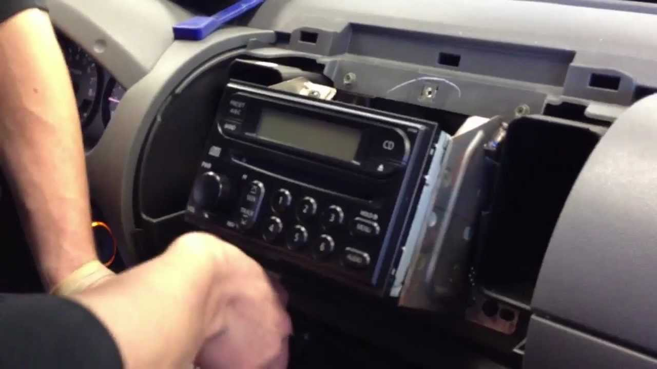 2006 Nissan Xterra How to Remove Stereo Radio DIY dash frontier  YouTube