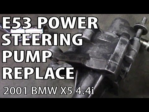 BMW X5 4.4i E53 Power Steering Pump Replacement