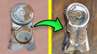 How to Polish Metallic Surface | CD70 Engine Cover Restoration