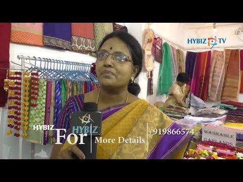 Mallika at Women's Bazar Annual Exhibition of Art Textiles in Chennai