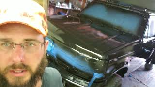 Paint your vehicle for under $100.00 DIY truck Rustoleum industrial IMPLEMENT paint on the Cheap.