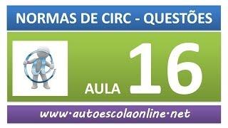 AULA 60 PROVA SIMULADA NORMAS DE CIRCULAÇÃO - CURSO DE LEGISLAÇÃO DE TRÂNSITO GRÁTIS