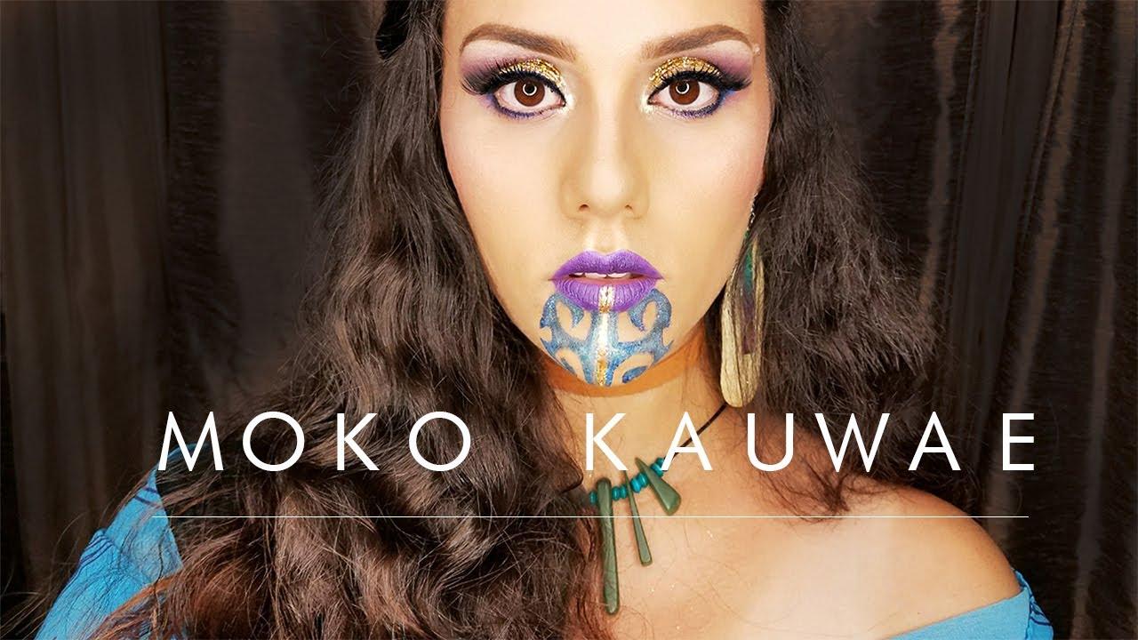 Women S Maori Moko Chin Body Temporary Tattoos: Moko Kauwae Female Maori Chin