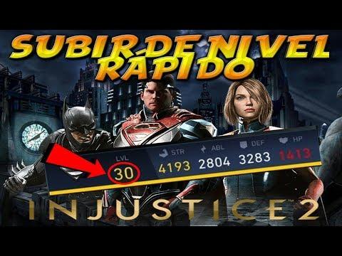 TRUCO SUBIR DE NIVEL RÁPIDO INJUSTICE 2!