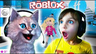 Я и КОШКА Снеговик ПОКАЗ МОД Роблокс roblox Челлендж Fashion Frenzy видео для детей детский летсплей