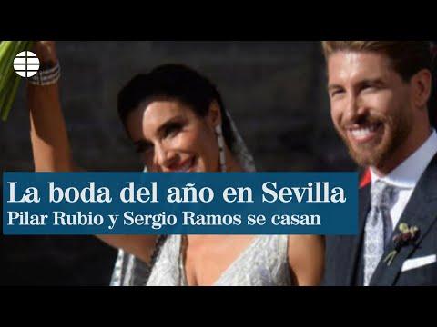 Pilar Rubio, con brillo y lentejuelas; Sergio Ramos, clásico con cuadros