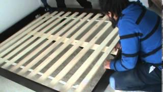 Queen Size platform bed installation(Queen Size platform bed installation., 2014-04-02T05:57:58.000Z)