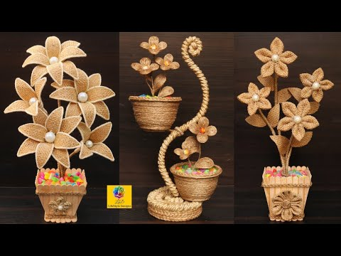 3-beautiful-flower-vase-showpiece-decoration-ideas-with-jute-rope-|-home-decor-jute-art-and-craft