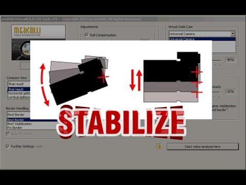 Стабилизация видео - плагин ProDAD Mercalli в Vegas Pro