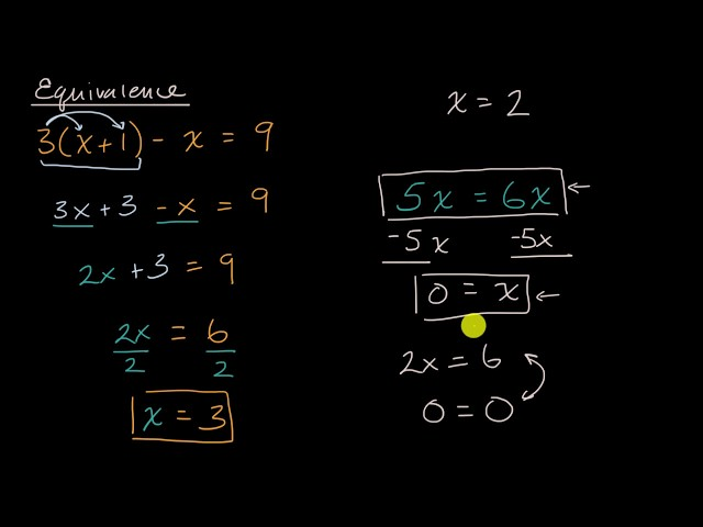 Reasoning with linear equations   Solving equations & inequalities   Algebra 1   Khan Academy