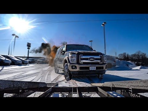 Задний Привод - Боль на Снегу. Ford и GMC. Застрял