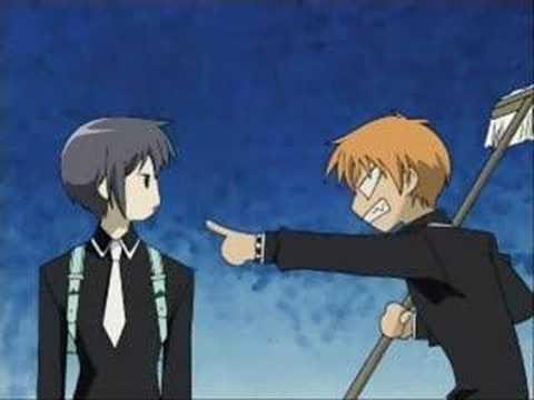 Fruits Basket- Kyo & Yuki Get Off Of My Back!!!!!!!! - YouTube