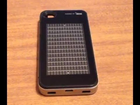 Nice Solar iPhone 4 Case: Solar Charger and Battery Backup Case