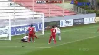 INDONESIA u19 (1-2) Atletico Madrid B  Friendly Match 16/9/2014  FULL HIGHLIGHTS