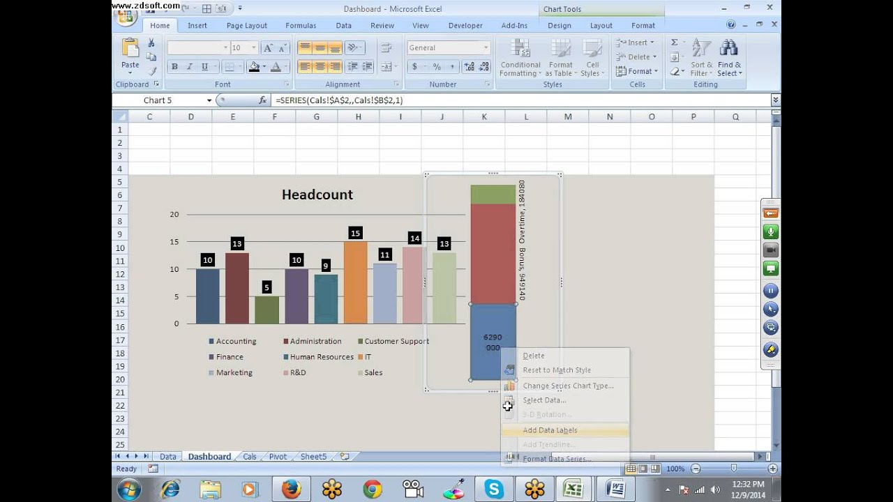 hr dashboard in excel
