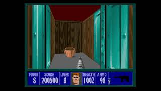 Wolfenstein 3D Playthrough Mission 2 Floor 8