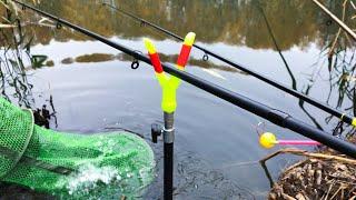 Трудовая РЫБАЛКА в НОЯБРЕ на Фидер Поплавок Рыбалка на Реке Северскии Донец
