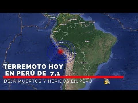 Terremoto de 7,1 en Perú  activa aleta máxima en zonas de Perú