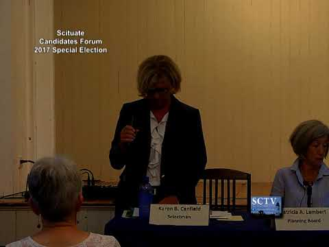Scituate Special Election Candidate Forum 8-24-17