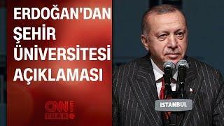 Erdoğan'dan Şehir Üniversitesi açıklaması... Hedefte Gül, Davutoğlu, Babacan, Şimşek var!