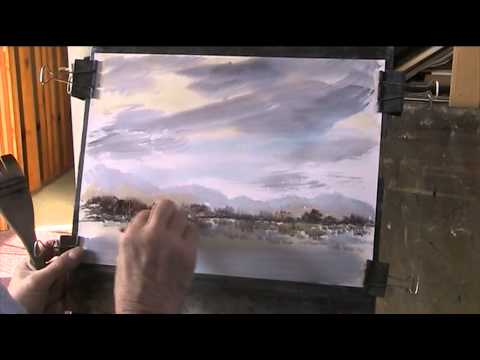 Painting a landscape using 3 primary colours