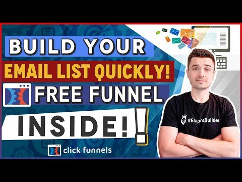 HOW TO QUICKLY BUILD YOUR EMAIL MARKETING LIST FOR YOUR SHOPIFY CLICKFUNNELS DROPSHIPPING BUSINESS!