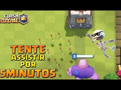 TE DESAFIO À ASSISTIR ESSE VÍDEO POR 5 MINUTOS!!   Clash Royale