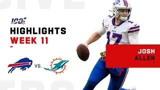 Josh Allen Dismantles Dolphins w/ 3 TDs | NFL 2019 Highlights