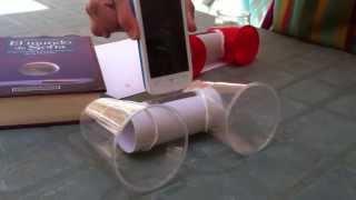Amplificador ecológico para teléfono móvil