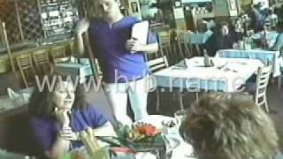 Repeat youtube video Waiter surprises the ladies with his HUGE ... [Very Funny!]