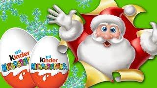 Kinder Surprise • Mikołajek i bałwanek • otwieram jajka niespodzianki