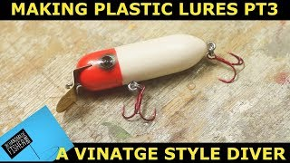 How to make a plastic fishing lure Part 3 Vintage style lure