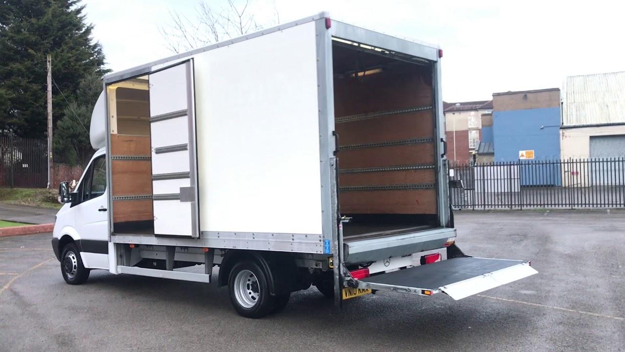 01b1f3b22f MERCEDES SPRINTER 513 CDi 130 Lwb Luton Box Van 14.ft Grp body+ Tail-Lift
