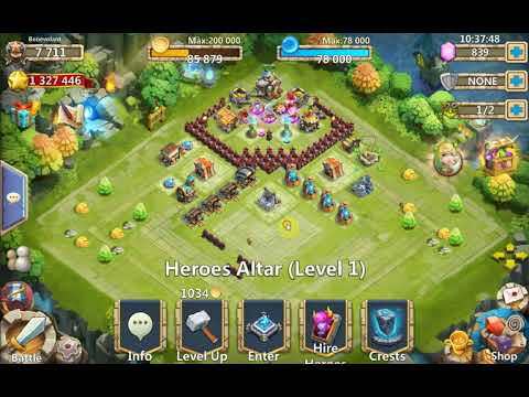 Castle Clash: Town Hall 7 (A-E) HBM
