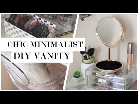 Minimalist Makeup Vanity DIY + $50 GIVEAWAY!