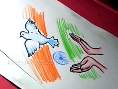 How to draw easy independence day drawing designs step by kids cartoon drawings also rh youtube