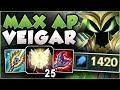 STOP PLAYING VEIGAR WRONG! 2700+ DMG ULT?? MAXIMUM AP VEIGAR SEASON 8 GAMEPLAY! - League of Legends