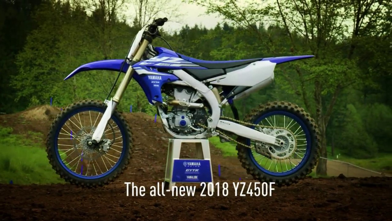 The all new 2018 yamaha yz450f with electric start youtube for New yamaha 450