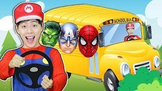 슈퍼히어로와 버스 타고 학교가요. 영어동요 Superhero Wheels on the Bus |  Nursery Rhymes & Kids Songs 마슈토이