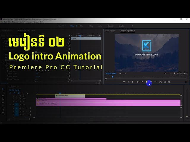 How to make an animated intro in adobe premiere | Part 02