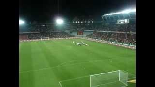 AC Sparta Praha - Feyenord Rotterdam 30. 8. 2012 Děkovačka mašinka