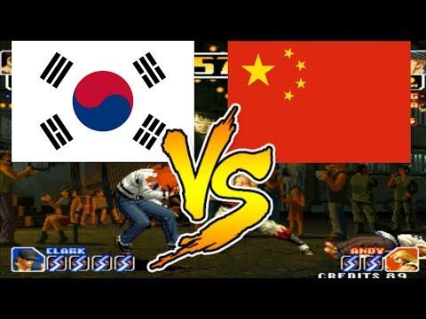 KoF 99 - Kim Sun vs Wang - 拳皇99, arcade emulator suparc, the king of fighters 99, snk, neogeo, kof99