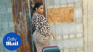 Nicki Minaj poses in leopard print at Givenchy Spring 2016 show - Daily Mail
